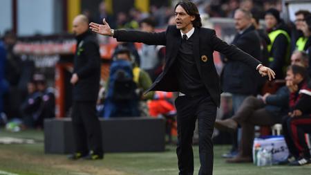 Pelatih AC Milan Filippo Inzaghi. - INDOSPORT