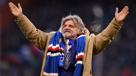 Presiden Sampdoria, Massimo Ferrero. - INDOSPORT
