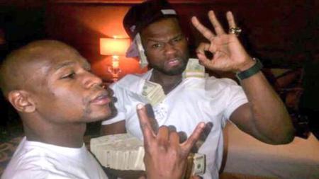 Floyd Mayweather Jr. dan rapper 50 Cent - INDOSPORT