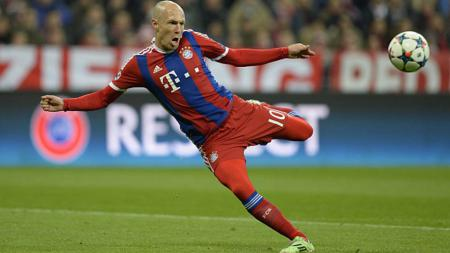 Arjen Robben dikenal sebagai salah satu penyerang sayap terbaik di dunia yang kerap mencetak gol-gol spektakuler. - INDOSPORT