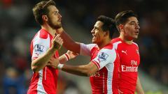 Indosport - Kepergian Aaron Ramsey dan Alexis Sanchez secara cuma-cuma dari Emirates Stadium membuat Arsenal menelurkan kebijakan transfer terbaru