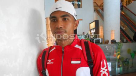 Atlet atletik asal Indonesia, Adrian. - INDOSPORT