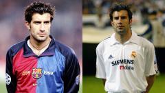 Indosport - Legenda sepak bola Laliga, Luis Figo, menyoroti penampilan dua mantan timnya, Barcelona dan Real Madrid, yang melempem di Liga Champions musim ini.