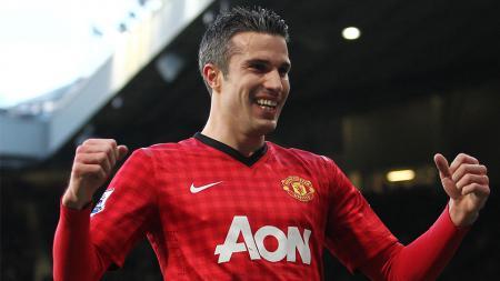 Robin van Persie saat masih memperkuat Manchester United. - INDOSPORT