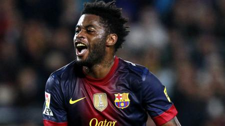 Gelandang Barcelona, Alex Song. - INDOSPORT