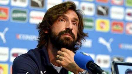 Legenda sepak bola Italia, Andrea Pirlo. - INDOSPORT