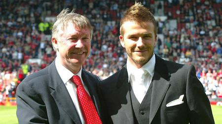 Sir Alex Ferguson dan David Beckham - INDOSPORT