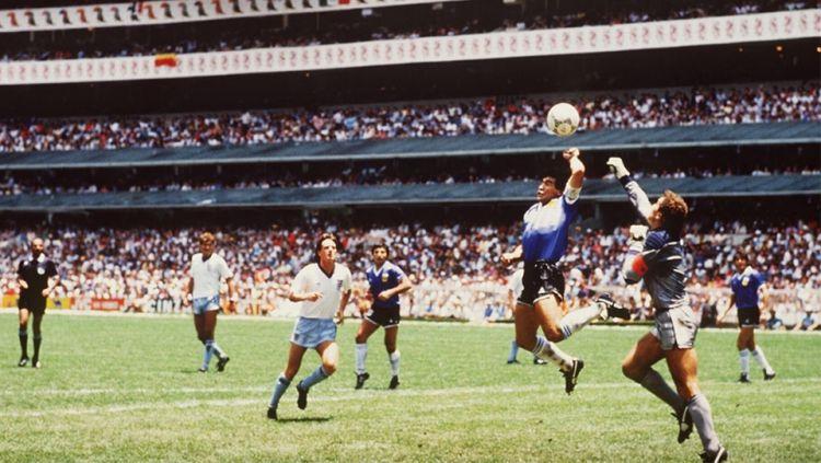 Gol Tangan Tuhan Maradona Copyright: © INTERNET