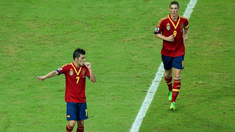 David Villa (Vissel Kobe), memutuskan pensiun menyusul rekan senegaranya, Fernando Torres. Copyright: ©