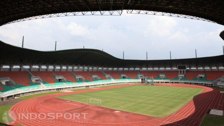Stadion Pakansari, stadion bertaraf internasional yang terletak di kecamatan Cibinong, Kabupaten Bogor. Copyright: Herry Ibrahim/INDOSPORT