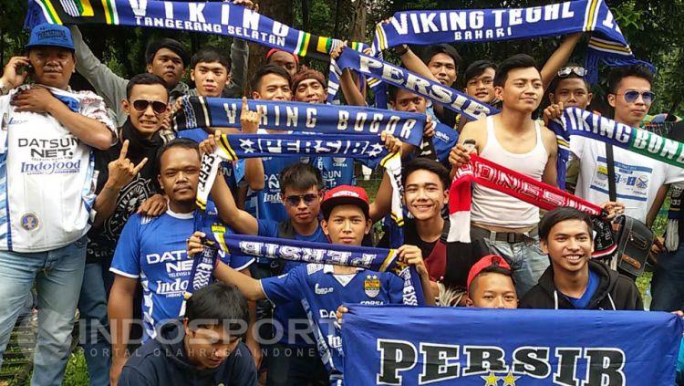 Viking siap untuk dukung Persib Bandung di Stadion Pakansari. Copyright: © Lanjar Wiratri/INDOSPORT