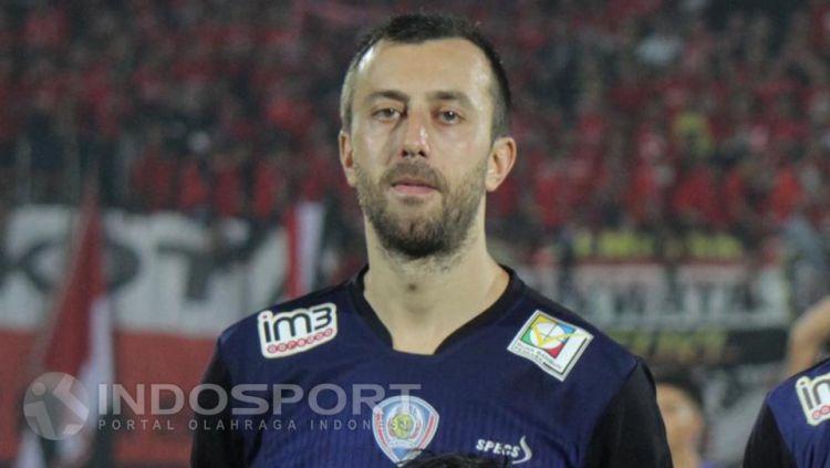 Goran Gancev saat masih membela Arema FC. Copyright: © Ian Setiawan/INDOSPORT