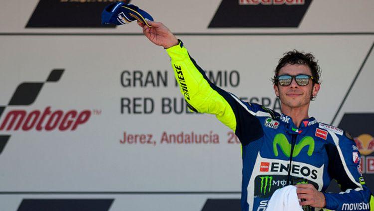 Pembalap asal Italia di Tim Movistar Yamaha, Valentino Rossi. Copyright: © Getty Images