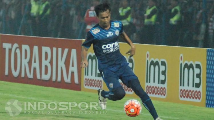 Sunarto, pemain Arema FC yang musim lalu dipinjamkan ke Persiba Balikpapan. Copyright: © Ian Setiawan/INDOSPORT