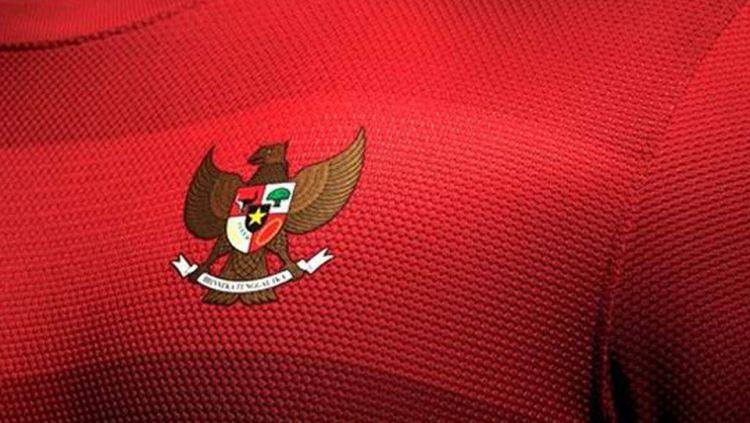 Logo Garuda di jersey timnas Indonesia Copyright: © INTERNET