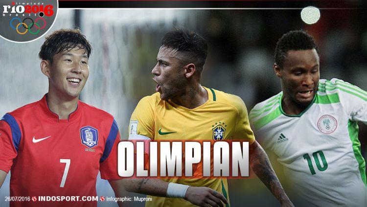 Son Heung-min (korea), Neymar (Brasil), John Obi Mikel (Nigeria) Copyright: © Grafis: Muproni/INDOSPORT-Internet