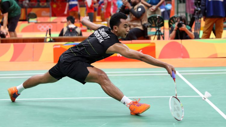 Tommy Sugiarto, salah satu tunggal putra Indonesia di All England 2017. Copyright: PBSI