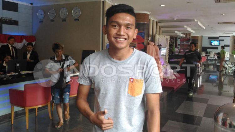 Dendy Sulistyawan siap jawab tantangan Luis Milla. Copyright: © Zainal Hasan/Indosport