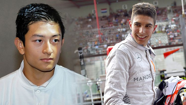 Rio Haryanto dan Esteban Ocon. Copyright: © Indoaport/Internet