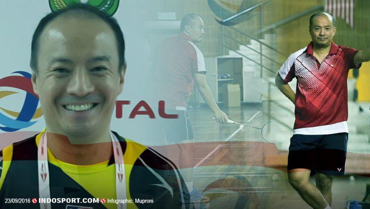 Hendrawan, legenda bulutangkis Indonesia dan pelatih dari Lee Chong Wei. Copyright: © Grafis: Muproni/INDOSPORT-Internet