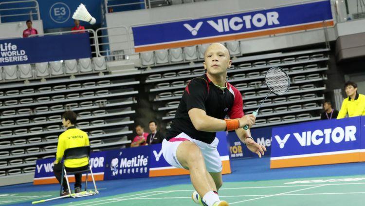 Aksi Yehezkiel Fritz Mainaky pada ajang Korea Open Super Series (15/09/15) Copyright: © INTERNET