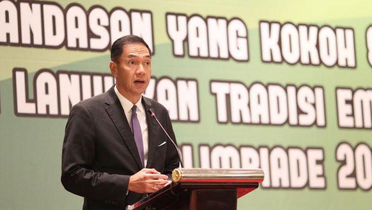 Mantan Ketua Umum PBSI, Gita Wirjawan. Copyright: © HUMAS PP PBSI