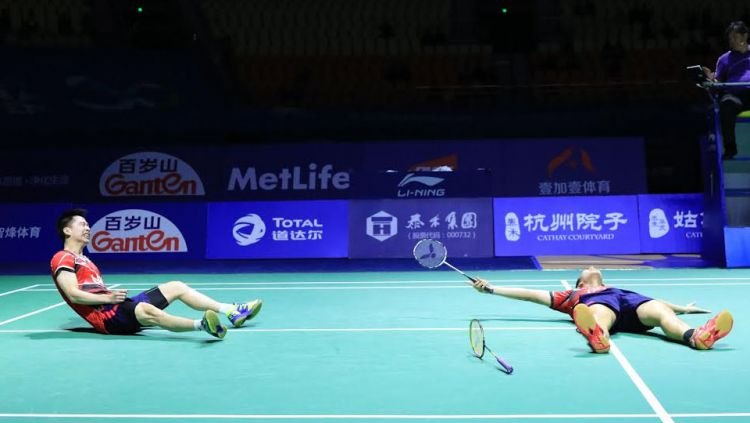 Inilah skenario neraka yang harus dihadapi oleh Kevin Sanjaya/Marcus Gideon untuk bisa mencapai babak final China Open 2019. Copyright: © HUMAS PBSI
