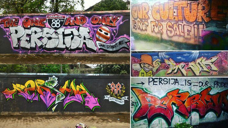 Grafiti Persija Jakarta Sebagai Bentuk Kreativitas Pendukung Macan Kemyoran Copyright Internet