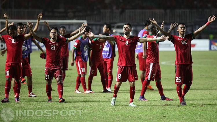 Selebrasi pemain Timnas Indonesia usai mengalahkan Vietnam pada Piala AFF 2016 lalu. Copyright: © Herry Ibrahim/INDOSPORT