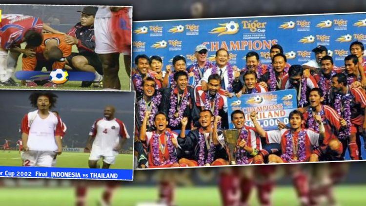 Thailand kembali menjadi juara Piala AFF setelah mengalahkan Tim Nasional Indonesia melalui adu penalti. Copyright: © INTERNET