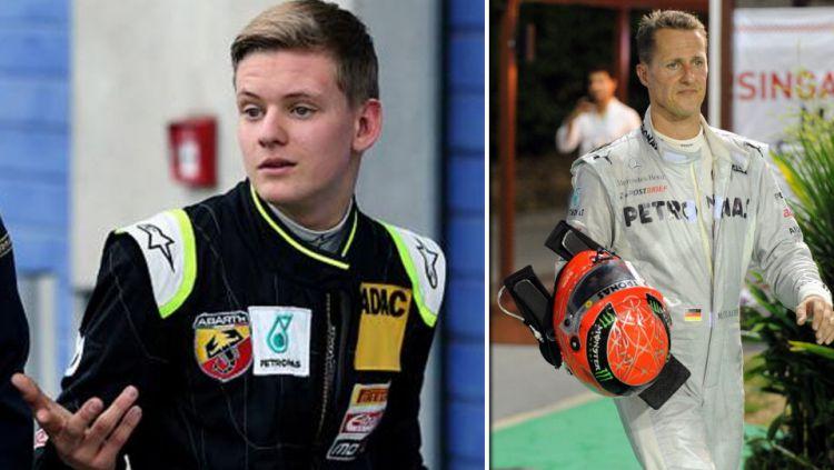 Michael Schumacher dan putranya, Mick Schumacher bukan satu-satunya ayah dan anak yang membalap di Formula 1 (F1). Copyright: © Getty Images