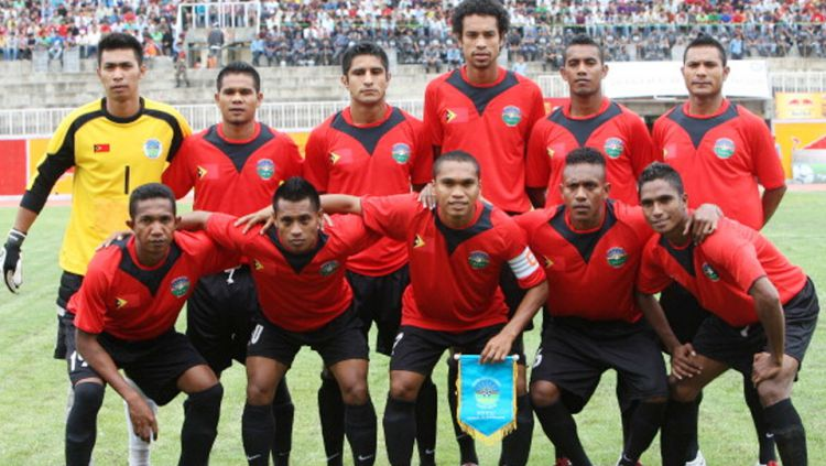 Skuat Timnas Timor Leste. Copyright: © PRAKASH MATHEMA/AFP/Getty Images