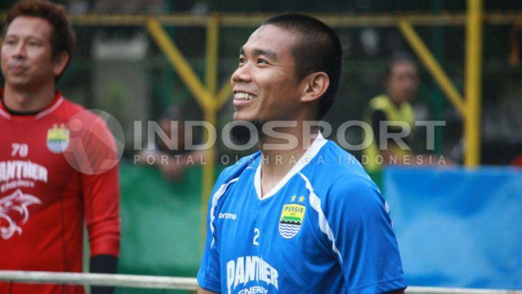 Wildansyah berlatih bersama Persib Bandung. Copyright: © Muhammad Ginanjar/INDOSPORT