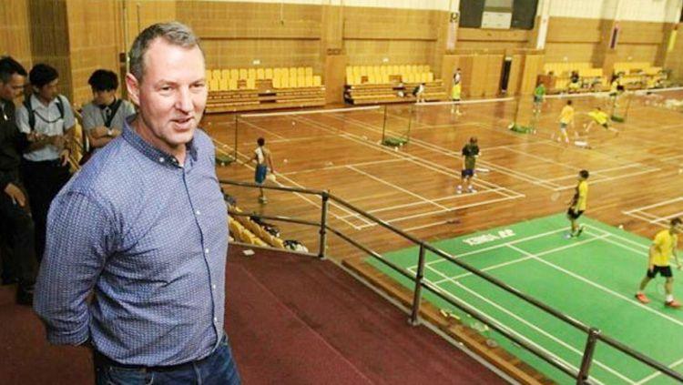 Direktur Teknik Federasi Badminton Malaysia (BAM), Martin Frost, mengunjungi tempat latihan tim badminton Malaysia. Copyright: © thestar