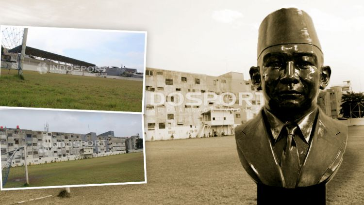Patung MH Thamrin dan stadion Stadion VIJ Petojo. Copyright: © Gerry Anugrah Putra/Herry Ibrahim/Eli Suhaeli/INDOSPORT