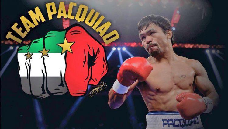 Manny Pacquiao akan bertanding di Uni Emirat Arab. Copyright: © TWITTER/MANNYPACQUIAO