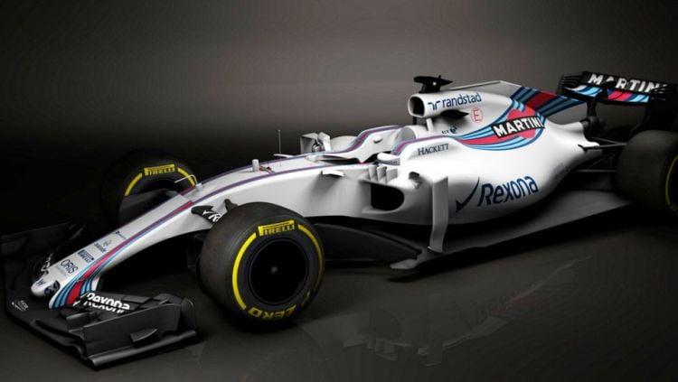 Mobil Williams Martini Racing Formula 1. Copyright: twitter/Williams