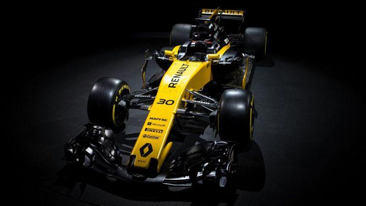 Mobil RS17 yang akan dipakai tim Renault pada musim balap 2017. Copyright: © Twitter/GP F1RST