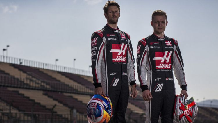 Kevin Magnussen dan Romain Grosjean. Copyright: © Sky Sports