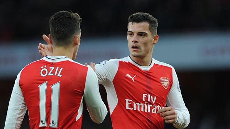 Granit Xhaka sudah telanjur punya reputasi buruk di Arsenal. Copyright: © David Price/Arsenal FC via Getty Images