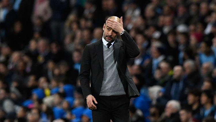 Pelatih Manchester City, Pep Guardiola. Copyright: © Stu Forster/Getty Images