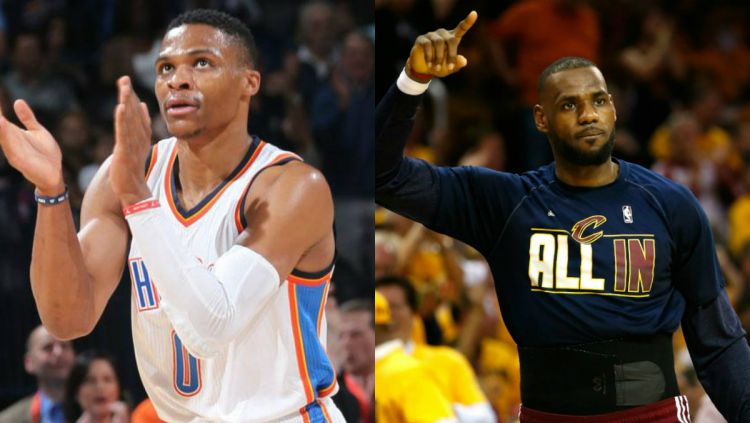 Russell Westbrook dan LeBron James Copyright: NBA