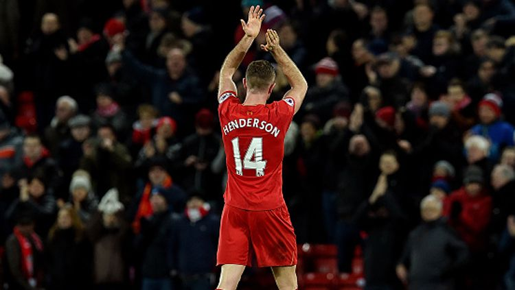 Kapten Liverpool, Jordan Henderson. Copyright: © Andrew Powell/Liverpool FC via Getty Images