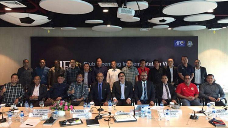 Pertemuan PSSI dan AFC soal lisensi klub. Copyright: PSSI
