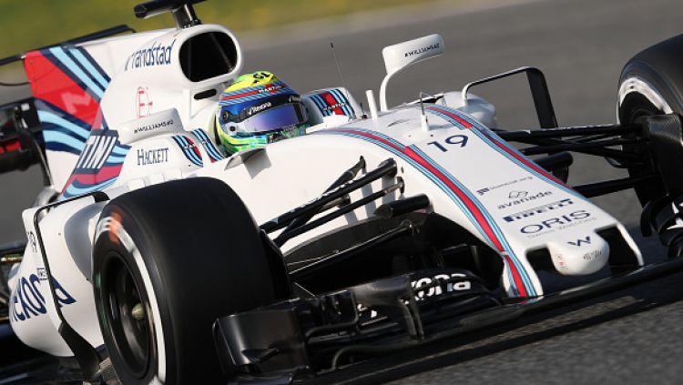 Felipe Massa saat menjalani tes pramusim 2017 di Catalunya, Barcelona. Copyright: GettyImages