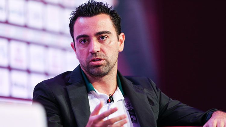 Mantan gelandang Barcelona, Xavi Hernandez. Copyright: © Barrington Coombs/Getty Images)