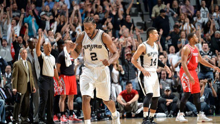 Forward andalan Spurs, Kawhi Leonard. Copyright: © Mark Sobhani/NBAE/Getty Images