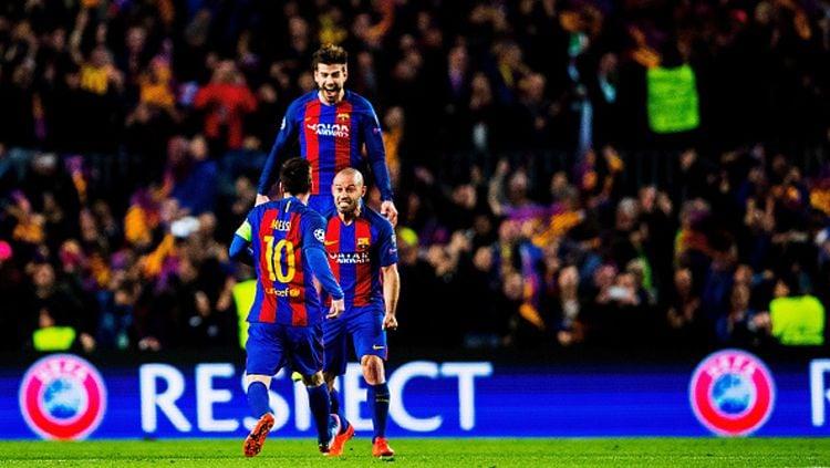 Usai Lionel Messi, kini giliran rekan setimnya di Barcelona, Gerard Pique yang lakukan aksi mulia perangi Corona. Copyright: © Vladimir Rys Photography/Getty Images
