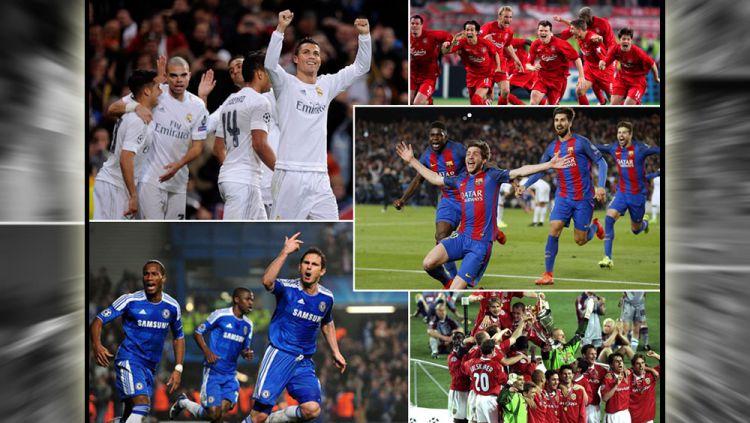 Aksi Comeback para klub elite Eropa di pentas Liga Champions. Copyright: Indosport/dari berbagai sumber