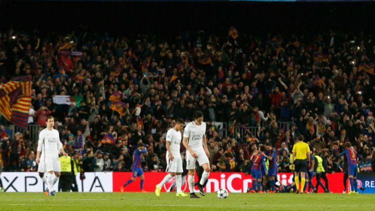 Paris Saint-Germain usai mengalami kekalahan dari Barcelona, Kamis (09/03/17). Copyright: © psg.fr